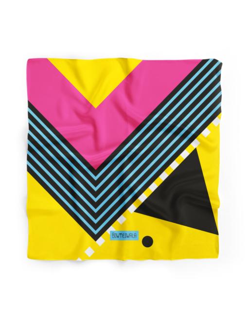 Bowtieswala Pocket Square Abstract Yellow