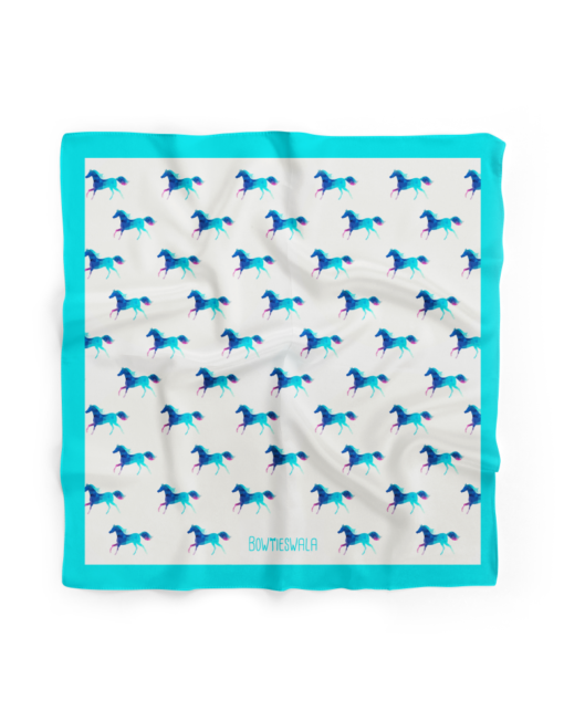 Bowtieswala Pocket Square Arabian Horses