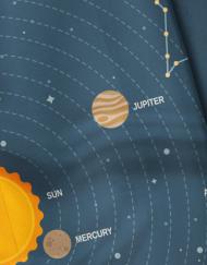 Bowtieswala Pocket Square Solar System